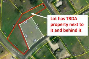 Spacious lot adjacent to TRDA land
