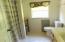Full bath upstairs between two bedrooms