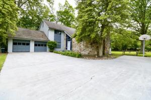 Front View with large driveway