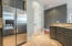 Kitchen offers a large pantry for storage