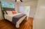 Soothing neutral color, beautiful hardwood floor, & updated en suite bathroom