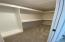 Upstairs primary closet