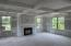 Great Room with beautiful coffered ceiling