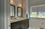 2nd Master Suite Bathroom w/ views of the lake