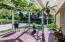 Arbor covered area for outdoor cooking & fun
