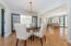 elegant dining area open to the kitchen, keeping room, sunroom and formal living area