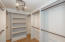 Generously built-out master walk-in closet