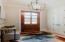 "Brand new designer lighting with large coat closet (10"" ceilings w/ 8' doors)"