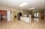Basement kitchenette area