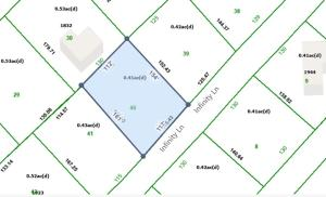Property Tax map - close up of lot 40