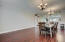Massive dining area leads right to the kitchen
