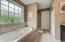 large soaking tub to relax