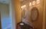 Decorative tile master bath backsplash