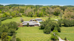 aerial of front of home