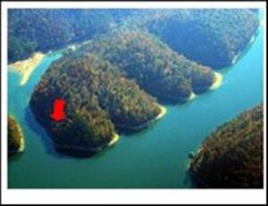 From the red arrow all the way around to the middle of the cove
