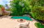 Salt water pool and firepit
