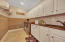 Right off garage with custom cabinets, sink granite and custom cabinets