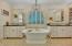 Dual sink, soaking tub