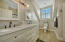 En-suite bath with dual sinks