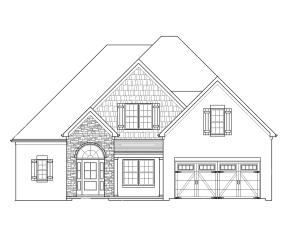 The Bellevue plan, all brick, new construction by Bryan Testerman.  4 bed, 3.5 bath, 2465 sqft home w/owner's suite on the main level, 3 bedrooms (or 2 & bonus) upstairs, dedicated dining area, & high end finishes throughout.  Dual sink vanity, freestanding tub, tile shower & huge closet in owner's suite.  Custom, soft close cabinets in kitchen. Granite countertops in kitchen/baths. Gas range.  Backsplash & under cabinet lighting. Hardwood floors in entry, dining, living, kitchen & upstairs hall.  Carpet in bedrooms.  Tile in laundry/baths.  Stone fireplace w/gas logs. Central vac roughed in. Hardwood stair treads, wrought iron balusters.  Coffered dining room ceiling.  BBQ gas line.  Sod & irrigation.  Tankless water heater.  Est completion Jan 2022.