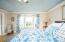 Master bedroom with tray ceilings, bay window, gorgeous view