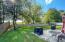 Large, fenced backyard