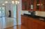 Dining room wit built-ins