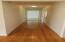 Oak hardwoods in hallway