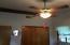 Exposed beams in Master bedroom