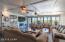 Family Room/Arizona Room with Cozy Fireplace, Double Paned Windows and Sliding Doors