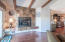 Gorgeous Wood Flooring and a Gas Fireplace in the Living Room