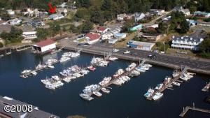 60 SE Cook Ave, Depoe Bay, OR 97341 - Aerial Photo overlooking home & harbor