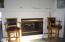 535 SW Cardinal Street, Depoe Bay, OR 97341 - dining room area fireplace