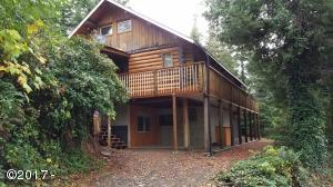 3186 NORTH Bear Creek Road, Otis, OR 97368 - Log Home Bear Creek