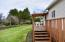 850 SW Darcy Ave, Siletz, OR 97380 - Back Deck and Yard.