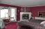 375 Monterey Ave, Gleneden Beach, OR 97388 - Bedroom w/ Fireplace