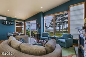 Very open Living room, with incredible ocean views.