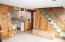 2947 NE Lake Dr, Lincoln City, OR 97367 - Stairs up and kitchen