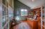 12220 NW Ocean Vista Ln, Seal Rock, OR 97376 - Office/Den Cherry Wall Cabinets