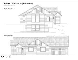 4105 SE Lee Av, Lincoln City, OR 97367 - Elevation Drawing