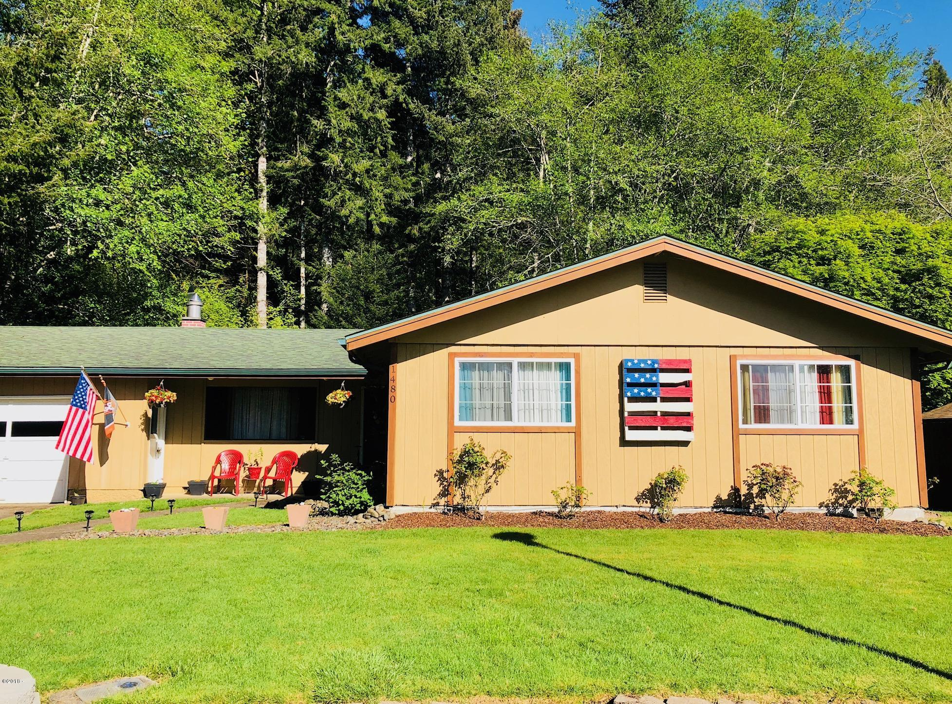 1480 NW Deer Dr, Toledo, OR 97391 - Front of home