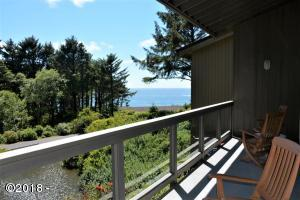 301 Otter Crest Dr, #206-7, 1/12th Share, Otter Rock, OR 97365 - Deck and view