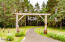 Beautiful log archway to property