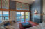 301 Otter Crest Dr, 420-421, Otter Rock, OR 97369 - Living area with fireplace