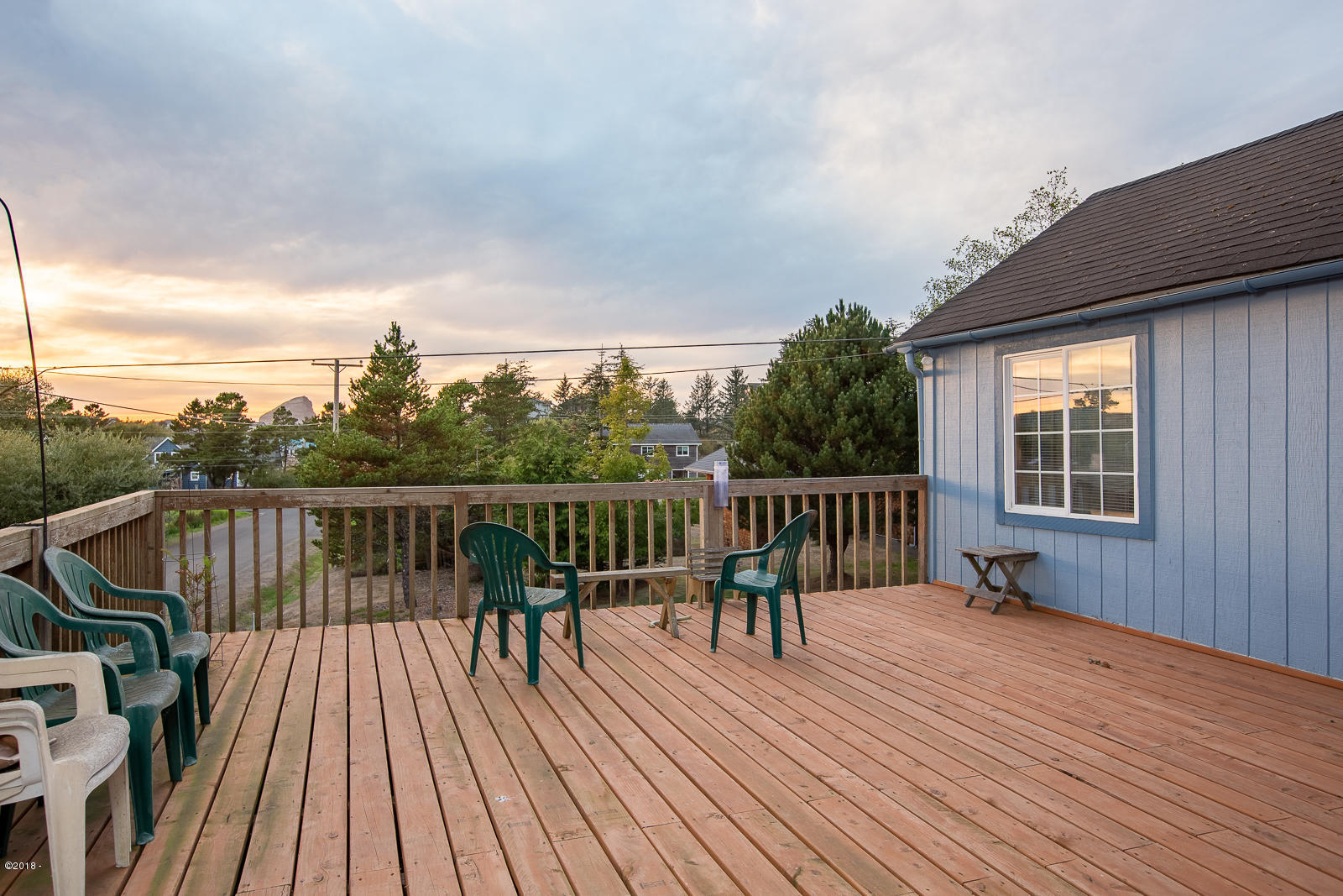 6420 Camp St, Pacific City, OR 97135 - Deck with Haystack Rock Views
