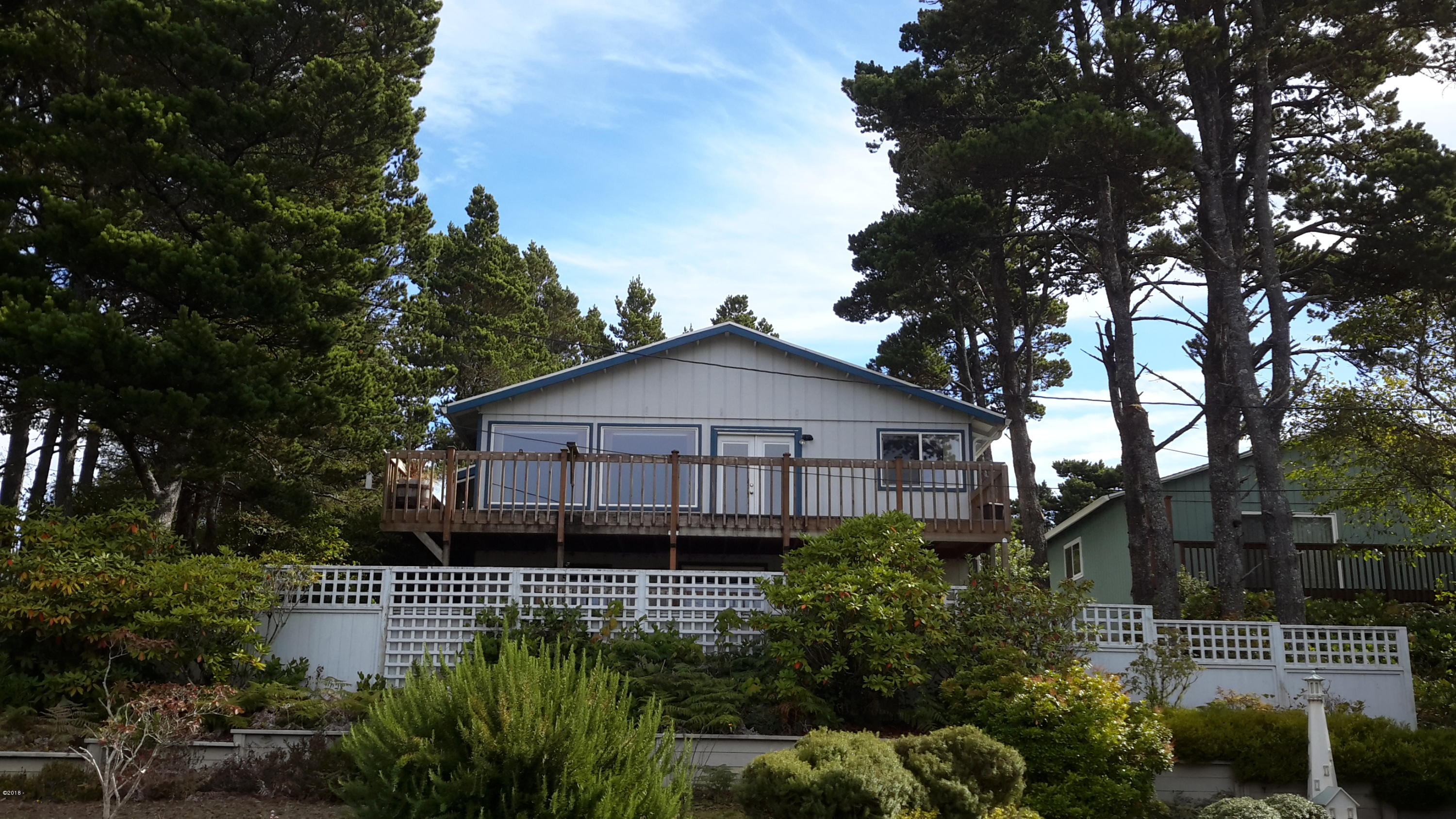 100 Hillcrest Street, Gleneden Beach, OR 97388 - Back View From Deck