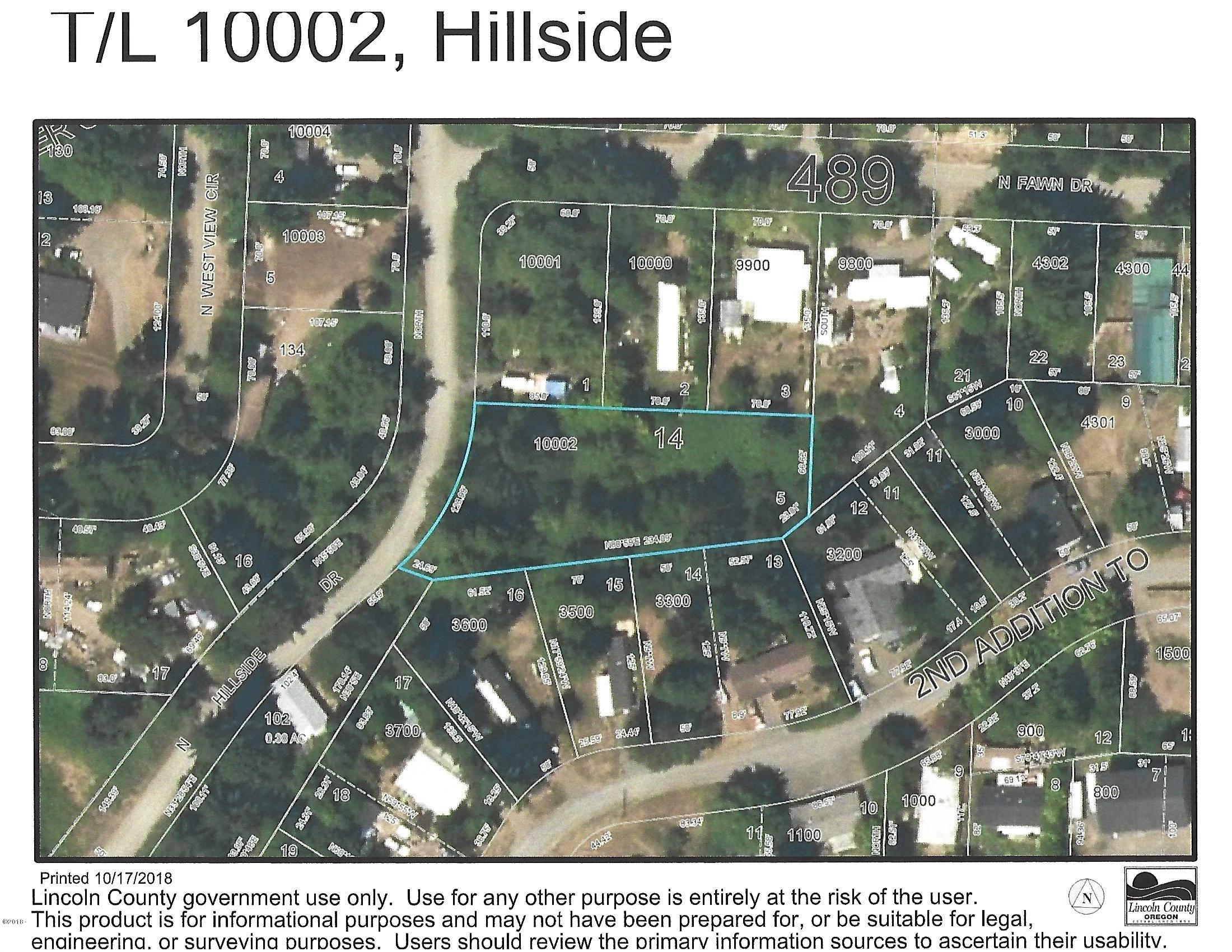 T/L 10002 N Hillside Dr, Otis, OR 97368 - Plat Map