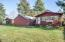 2957 NE West Devils Lake Rd, Lincoln City, OR 97367 - Rear of home & 2 garages