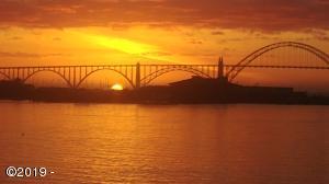 Sunset Yaquina Bay