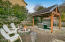 1345 SW Chad Dr, Waldport, OR 97394 - Side yard with Spa & Fire Pit